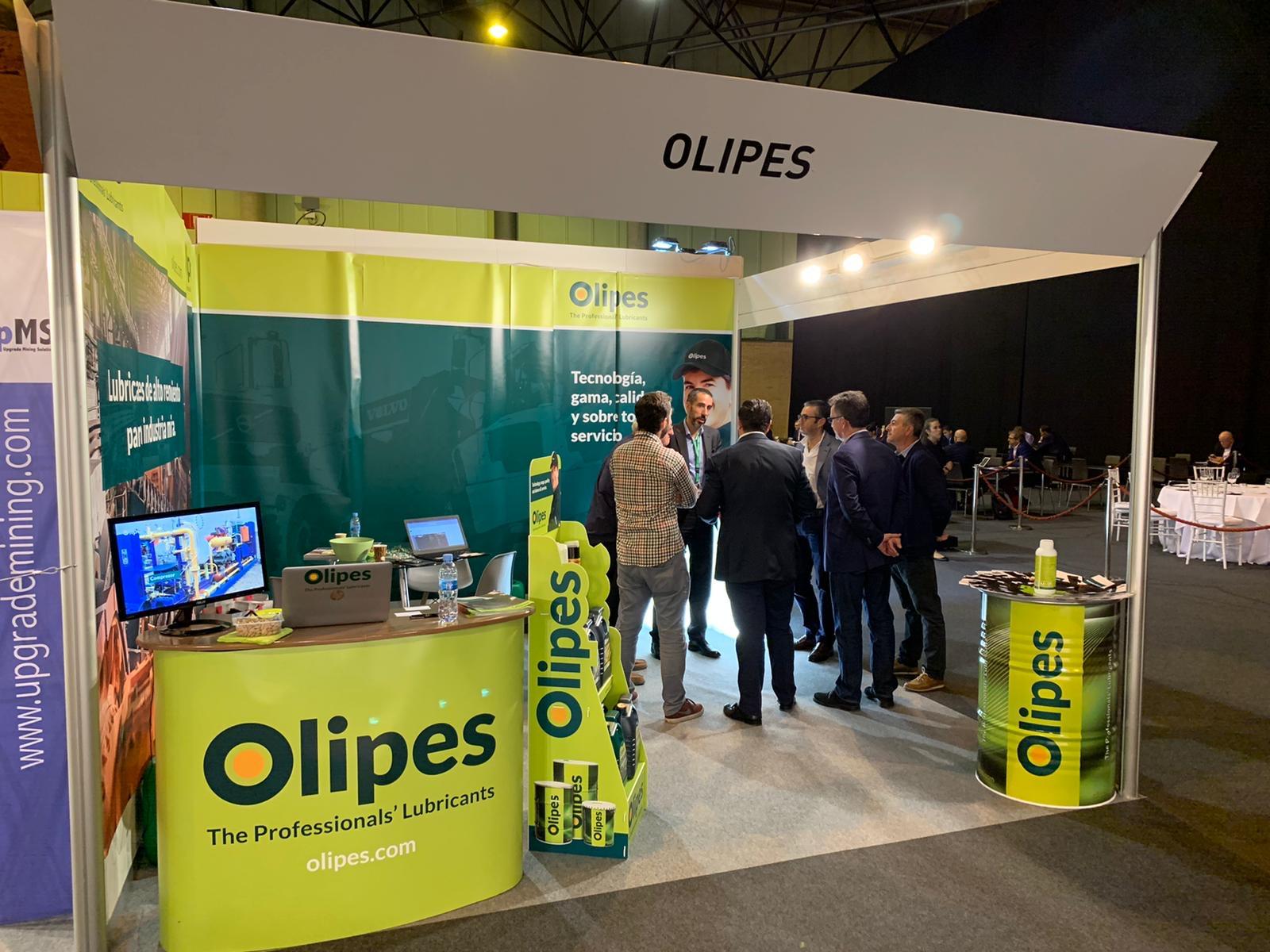 Los Lubricantes OLIPES Para Minería, Presentes En Un Stand En El MMH De Sevilla