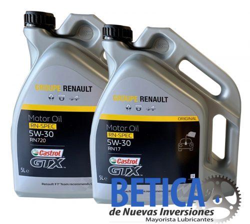 RENAULT CASTROL GTX 5W30 RN17 Y RN720